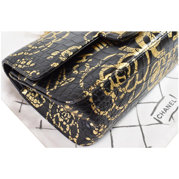 Chanel Reissue 2.55 Embossed Graffiti Bag black