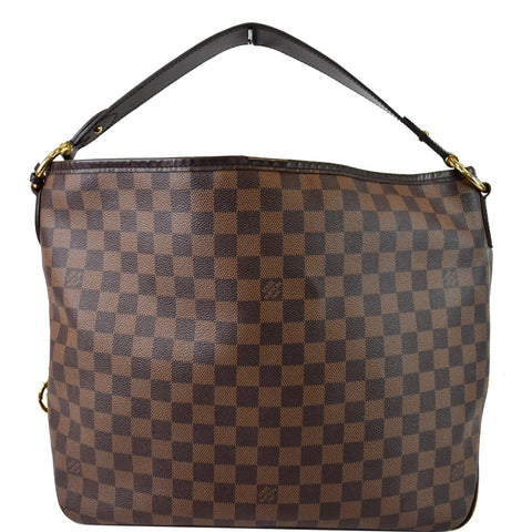 LOUIS VUITTON Delightful MM NM Damier Ebene Hobo Bag Brown