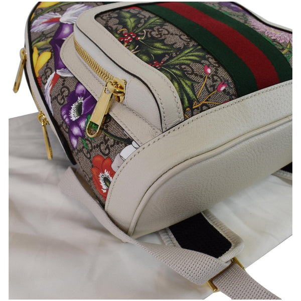Gucci Ophidia GG Flora Supreme Canvas Backpack