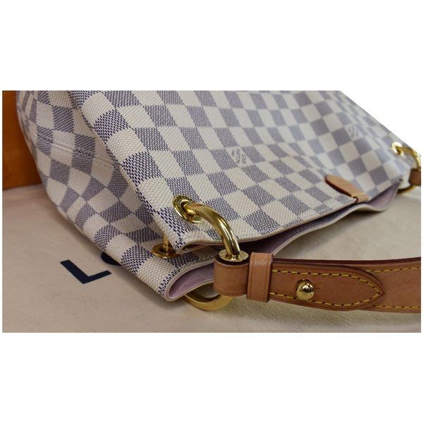 Louis Vuitton Graceful PM Damier Azur Shoulder Bag - top left corner