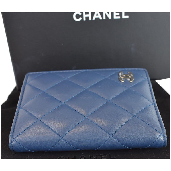 Chanel Classic Folded Leather Card Holder Wallet top upside