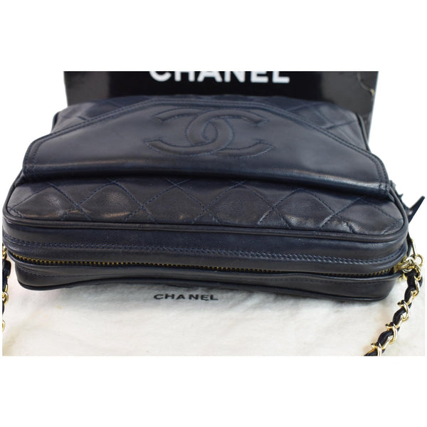 Chanel Front Pocket Quilted Lambskin Leather Bag