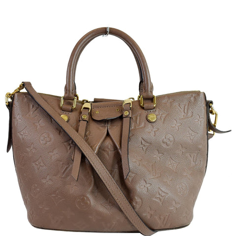 LOUIS VUITTON Mazarine PM Monogram Empreinte Shoulder Bag Taupe