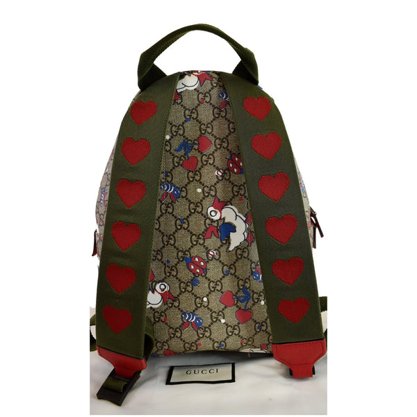 GUCCI Children's Duck Printed GG Coated Canvas Backpack Biege