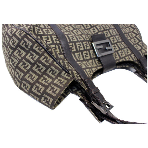 Fendi Shoulder Bag Zucchino Canvas Brown