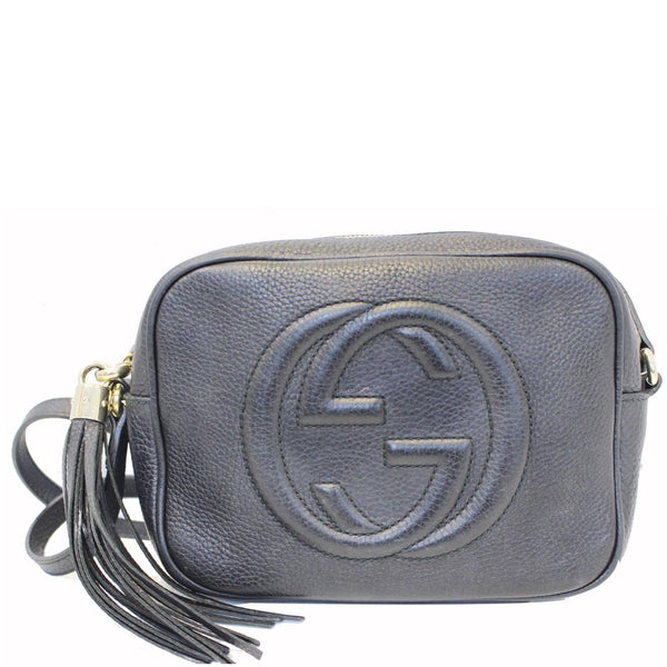 GUCCI Soho Disco Pebbled Leather Small Crossbody Bag Black