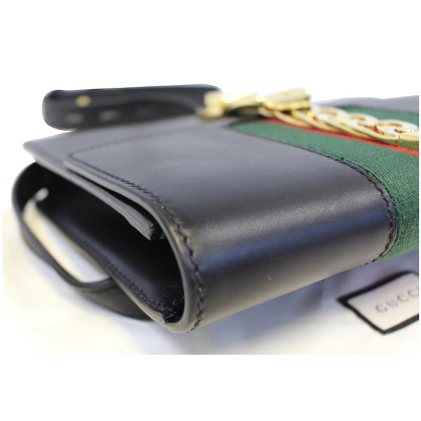 Gucci Belt Sylvie Calfskin Leather Bumbag Black - side view