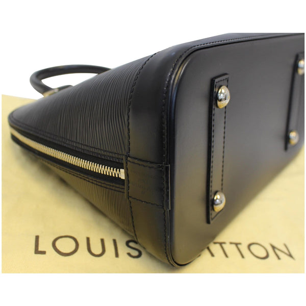 Louis Vuitton Alma Epi Leather Satchel Bag Black- Seams