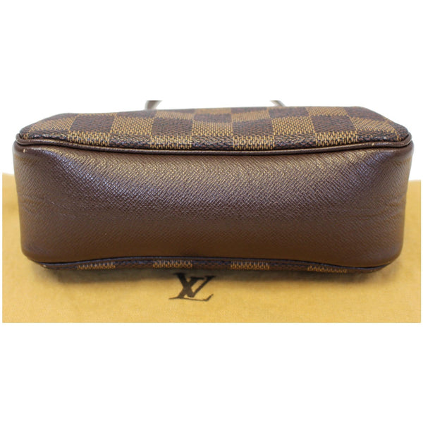Bottom View Lv Damier Ebene Truth Makeup Pouch Bag Brown