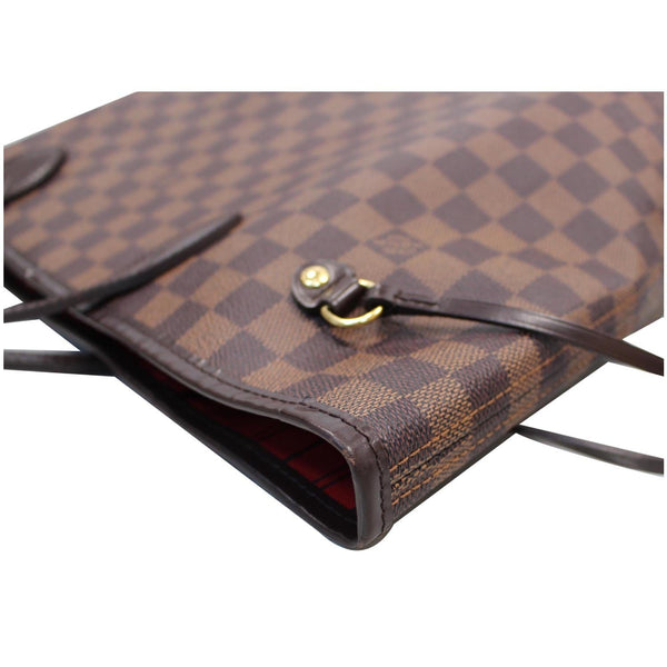 LV Neverfull MM Damier Ebene Bag Brown exterior