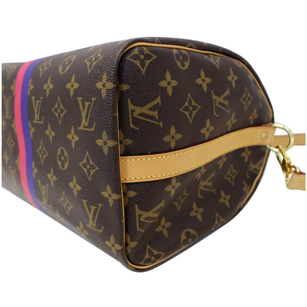 LV Speedy 30 Mon Bandouliere Canvas Bag - Bottom corner view