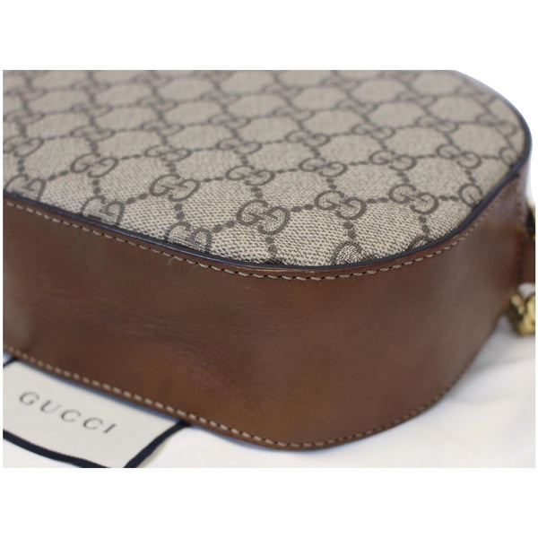 GUCCI GG Supreme Mini Chain Crossbody Bag Beige 409535-US