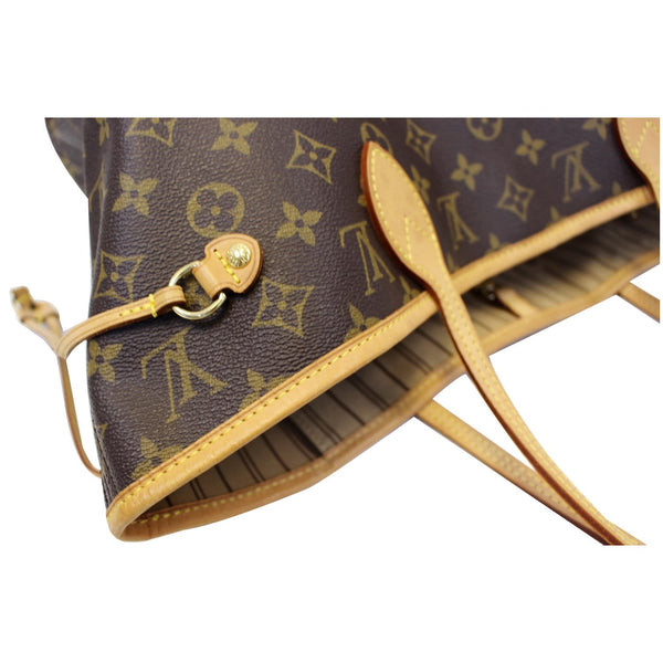Louis Vuitton Neverfull MM Canvas Tote Shoulder Bag - leather