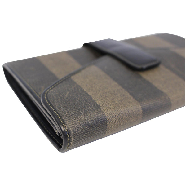 Fendi Vintage Pequin Stripe Wallet Brown - online