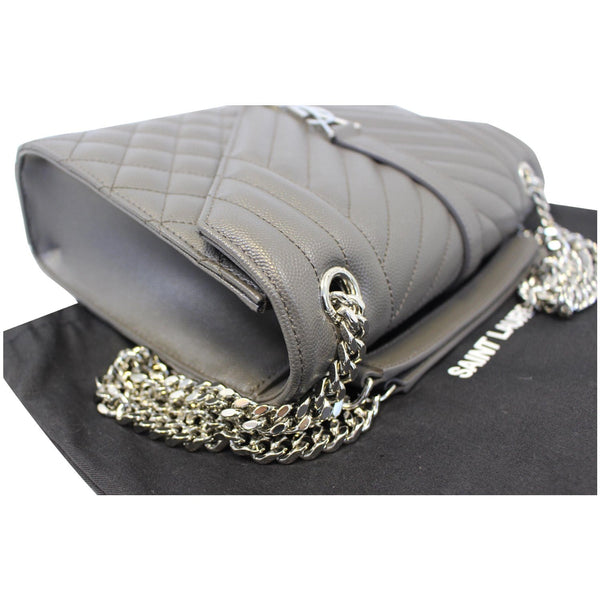 YVES Saint Laurent Envelope Medium Chain Shoulder Bag Grey