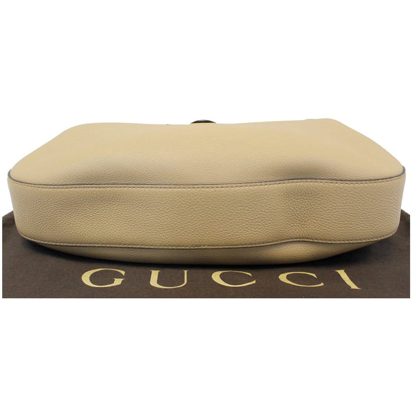 Gucci Jackie Soft Leather Hobo Bag - Gucci Shoulder bag | bottom flat view