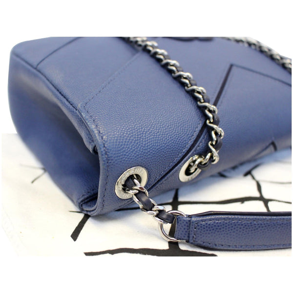 CHANEL CC Chevron Flap Shoulder Crossbody Bag Blue