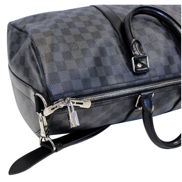Louis Vuitton Keepall 45 Damier Bandouliere Travel Bag - bag zip