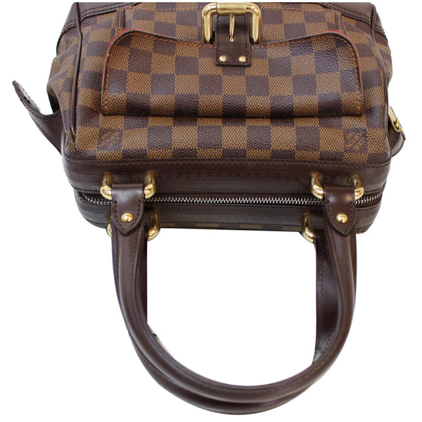 top view Knightsbridge Damier Ebene Satchel Bag