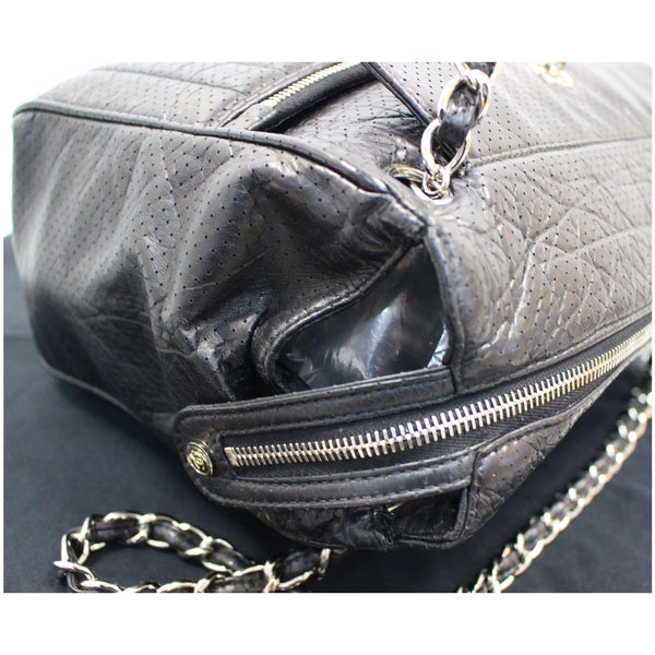 Chanel Calfskin Perforated 50's Bowler Bag - corner view