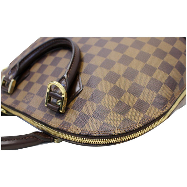 LOUIS VUITTON Alma Damier Ebene Satchel Bag Brown
