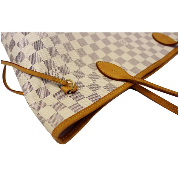 LOUIS VUITTON Neverfull MM Damier Azur Tote Shoulder Bag