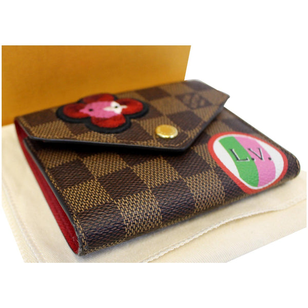 Louis Vuitton Victorine Wallet Damier Ebene brown bag