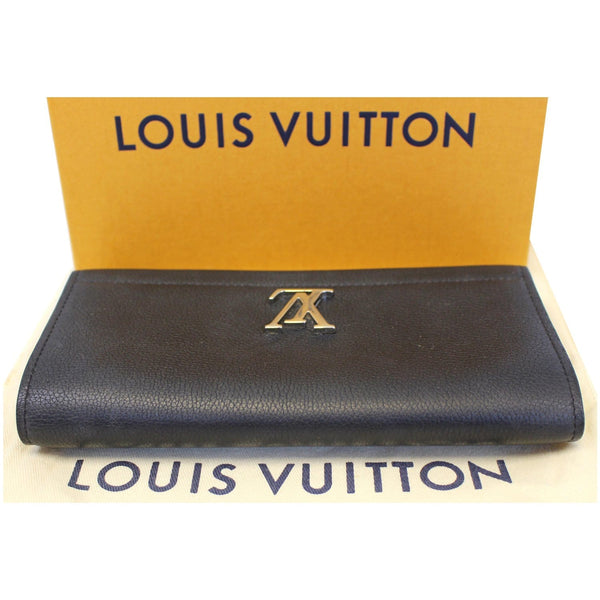 lv Lockme II Calfskin Leather wallet - bottom view
