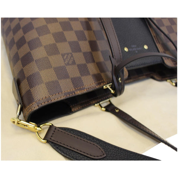 LOUIS VUITTON Jersey Damier Ebene Shoulder Bag Black