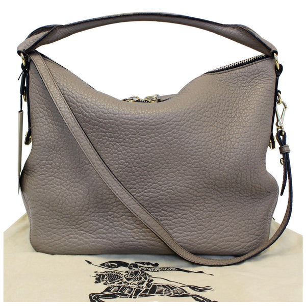 Burberry Leather Ledbury Grain Hobo Shoulder Bag for sale