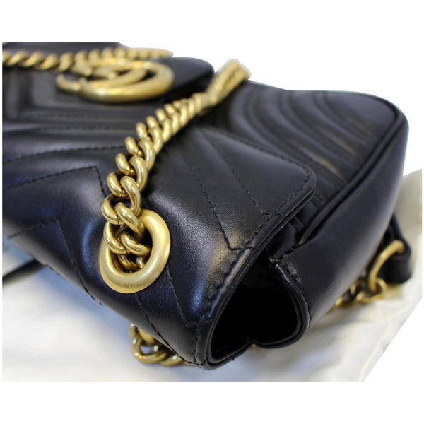 Gucci GG Marmont Matelasse Leather Crossbody Bag - side view
