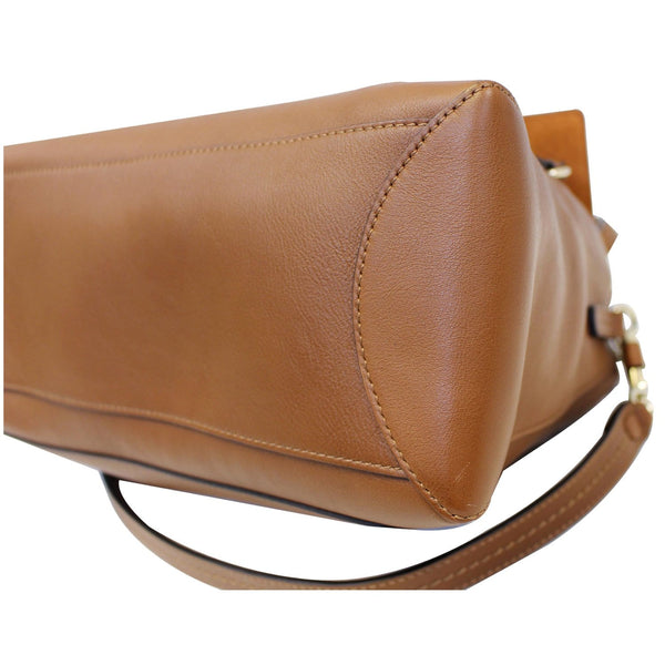 CHLOE Faye Day Mixed Flap Leather Medium Shoulder Bag Tan-US