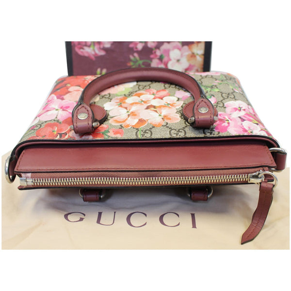 Gucci Satchel Bag GG Supreme Blooms Small - front view