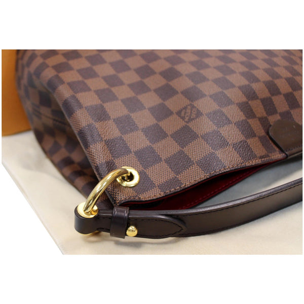 Louis Vuitton Graceful PM Damier Ebene Shoulder Bag corner view