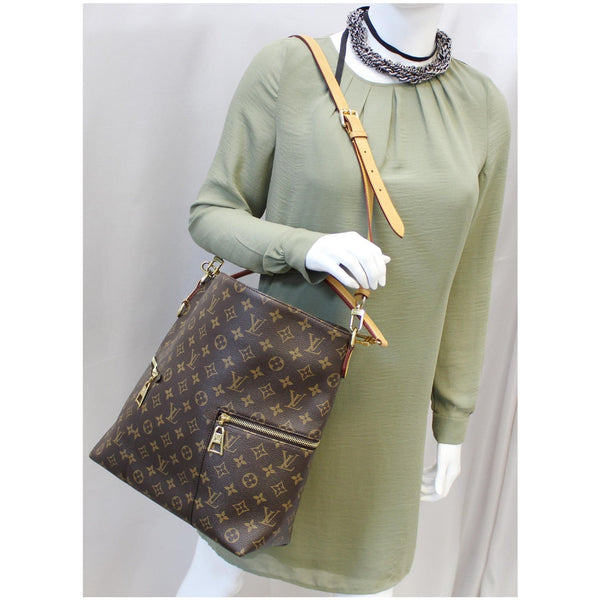 LOUIS VUITTON Melie Monogram Canvas Hobo Shoulder Bag Brown