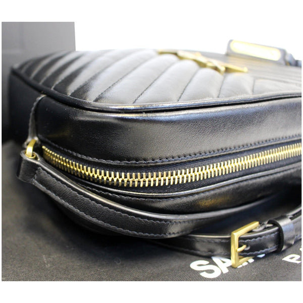 Yves Saint Laurent Camera Leather Crossbody Bag Black