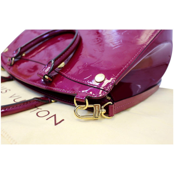 LOUIS VUITTON Brea MM NM Monogram Vernis Shoulder Bag Magenta-US