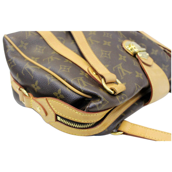 LOUIS VUITTON Stresa PM Monogram Canvas Shoulder Bag Brown