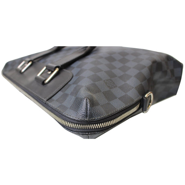 corner look Lv Porte Documents Jour Damier Cobalt Bag