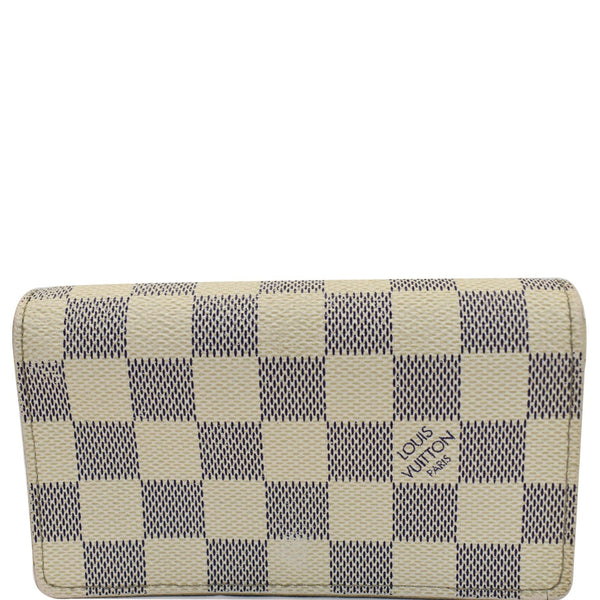 Louis Vuitton Zippy Damier Azur Wallet White for Women