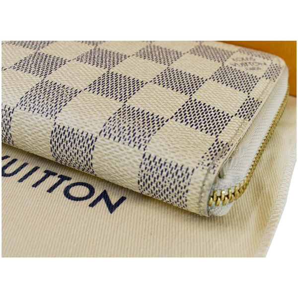 Louis Vuitton Damier Azur Zippy Organizer Wallet White - top back