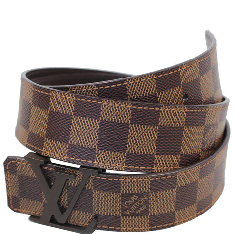 LOUIS VUITTON LV Initiales Damier Ebene Belt Brown