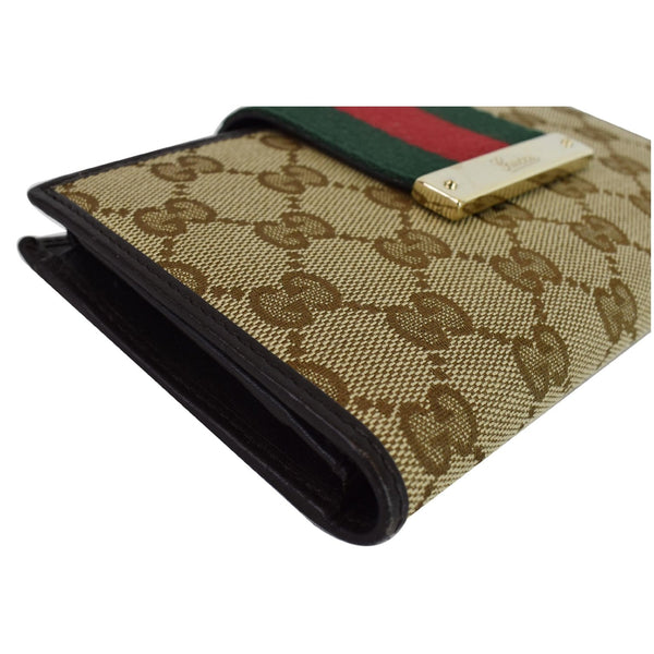 Gucci Monogram Ladies Web GG Canvas Continental Wallet - for sale