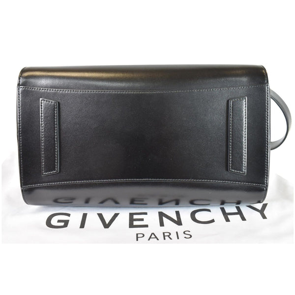 GIVENCHY Antigona Medium Leather Shoulder Bag Black