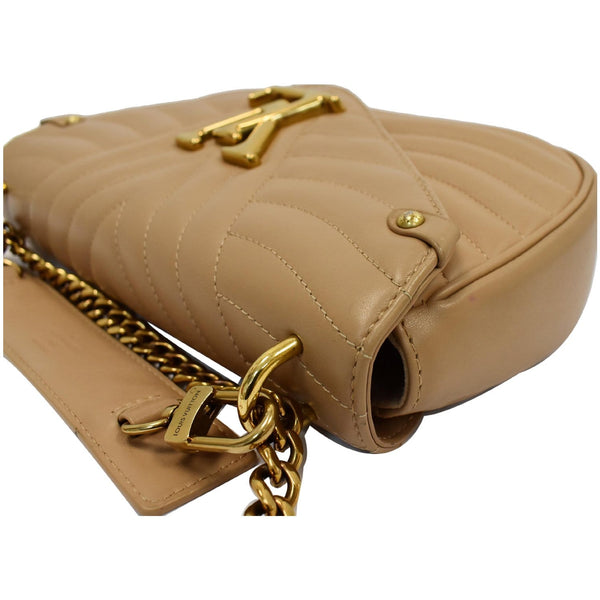 Louis Vuitton New Wave Chain MM Calfskin Leather Bag - beige color bag