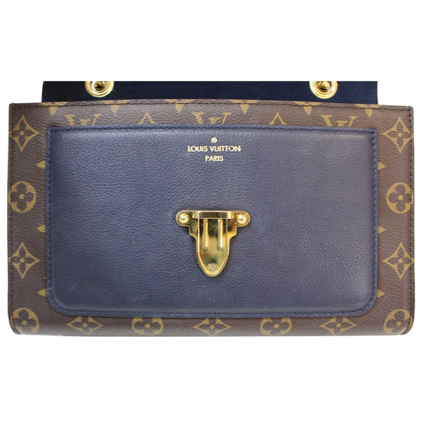 Navy Color Louis Vuitton Victoire Monogram Canvas Bag