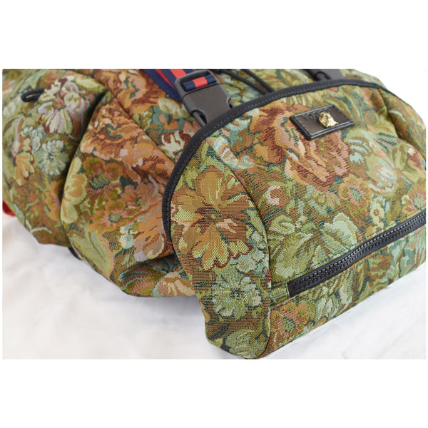 Gucci Floral Brocade Leather Backpack Bag Multicolor skin