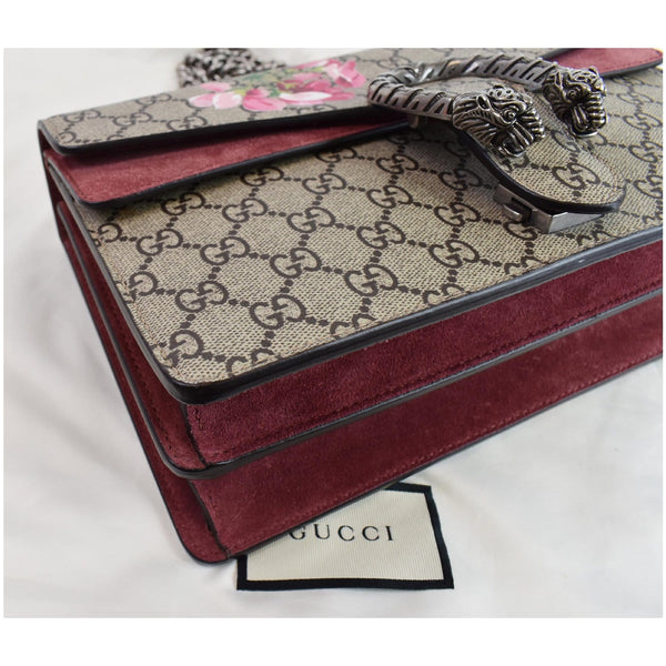 Gucci Dionysus Small GG Blooms Shoulder Bag logo on front