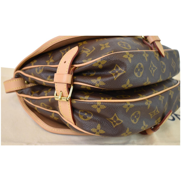 LOUIS VUITTON Saumur 30 Monogram Canvas Shoulder Bag Brown