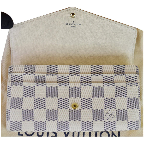 Louis Vuitton Damier Azur Sarah Wallet For Women White  - opend preview